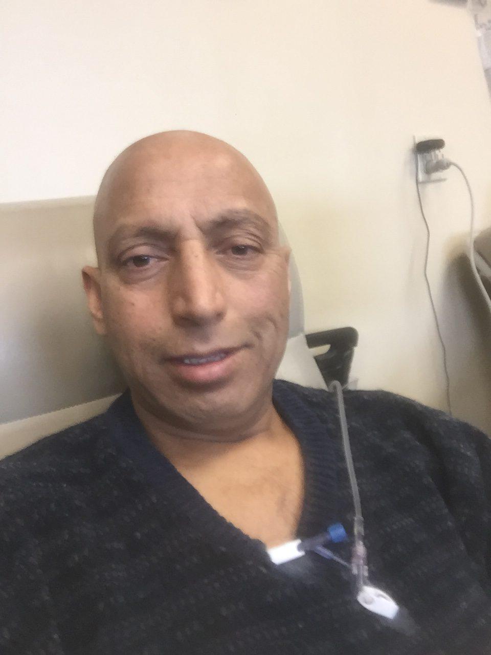 patient receiving chemo